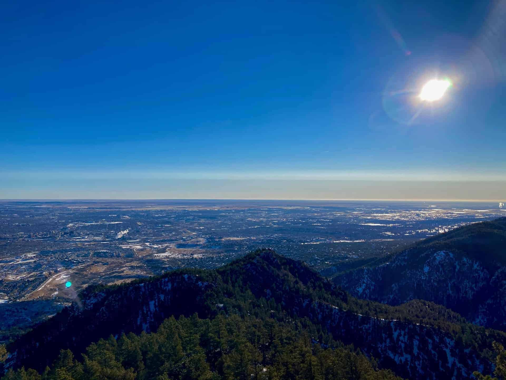 Colorado Springs from Section 16 Trail