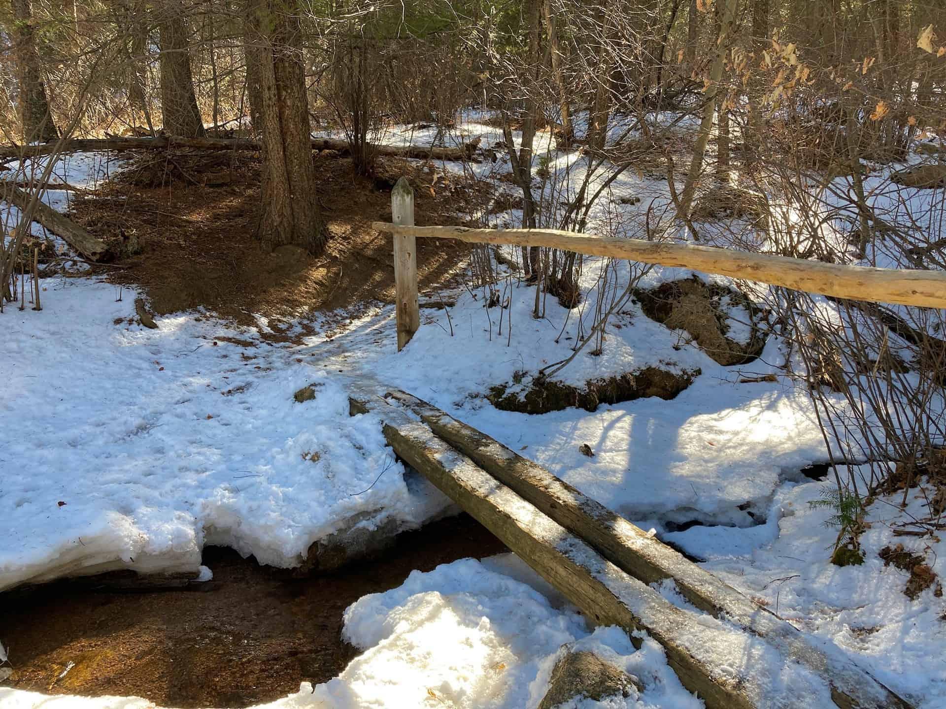creek crossing bridge along Trail 666